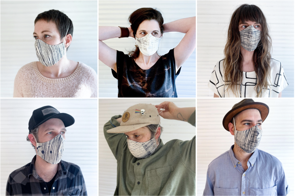 Masks modeled at Studio Holler