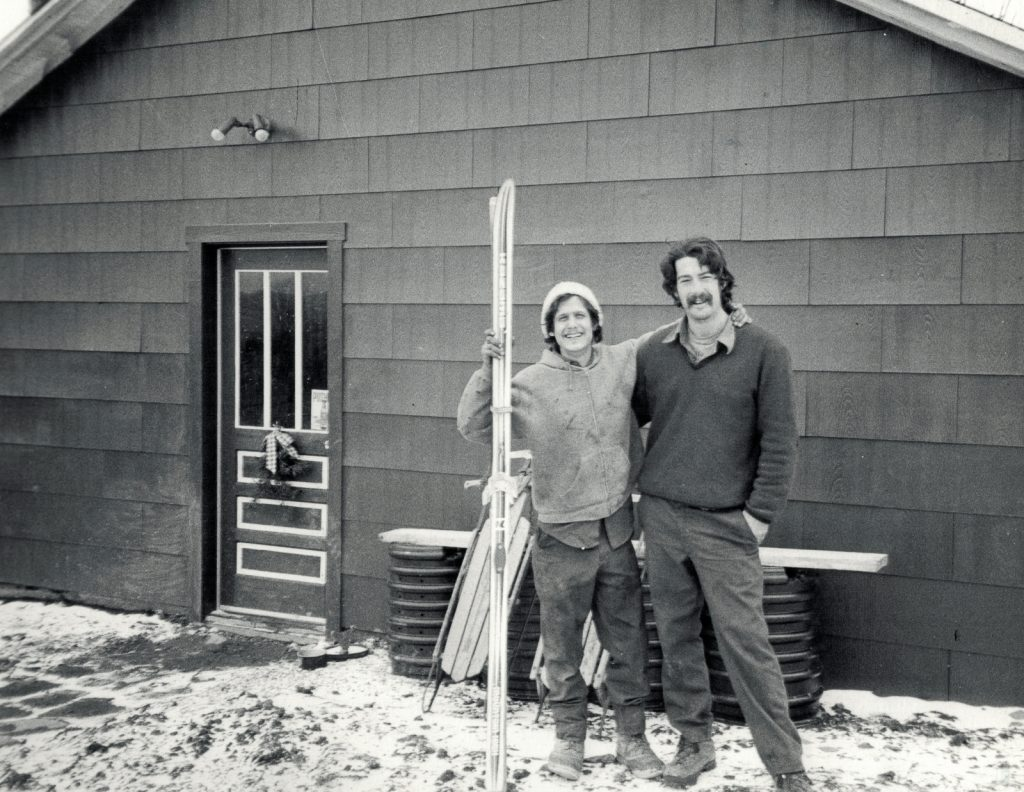 Chip Chase and Winslow Ayer in the mid 1980s.
