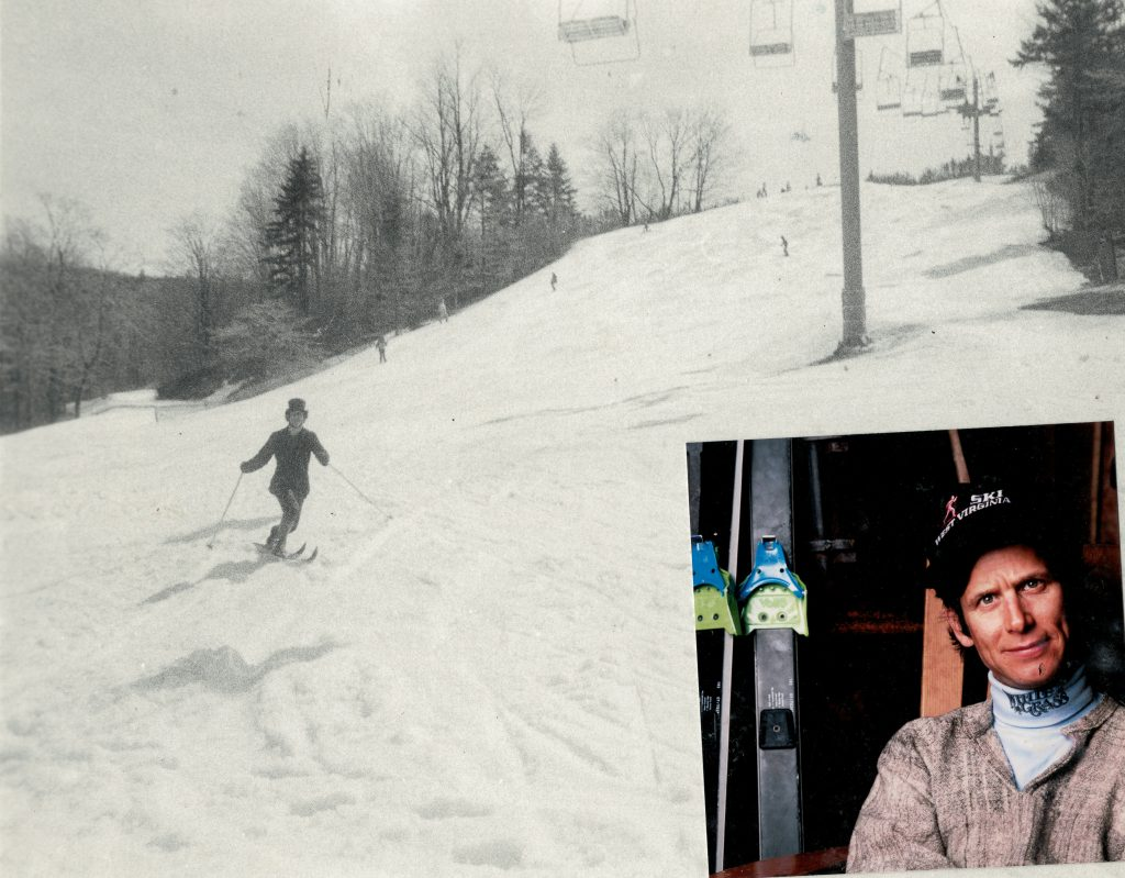 Canaan Valley Skiing: Chip Chase Telemark Turn